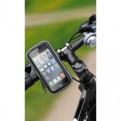 """muvit soporte bicicleta universal, a manillar, acceso a pantalla, impermeable. Hasta 4"""" negro"""