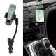 "muvit soporte coche universal toma encendedor 2 puertos USB 3.1A (1 + 2.1). Hasta 6,2"" negro"