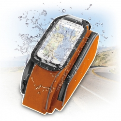 "muvit soporte/bolsa bicicleta universal, para cuadro bicicleta, acceso a pantalla. Hasta 4,7"" naranja"