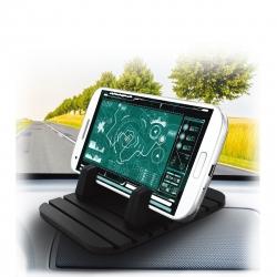 muvit soporte coche universal alfombrilla anti-deslizante con sujeción al móvil negro