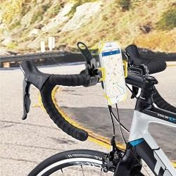 """muvit soporte bicicleta/moto universal, a manillar, acceso a pantalla. Hasta 6"""" amarillo"""