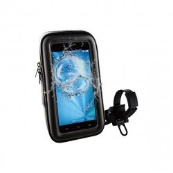 "muvit soporte bicicleta/moto/scooter universal a manillar, acceso a pantalla. Impermeable. Hasta 6,2"" negro"
