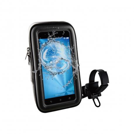 "muvit soporte bicicleta/moto/scooter universal a manillar, acceso a pantalla. Impermeable. Hasta 5,5"" negro"