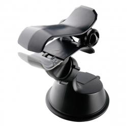"""muvit soporte coche universal pinza salpicadero y parabrisas 360 hasta 6,5"""" negro"""