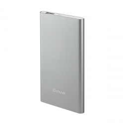muvit power bank 5000 mAh USB 2A cable USB-MicroUSB plata