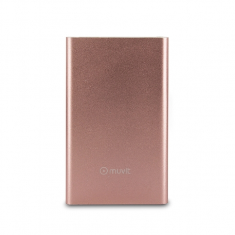 muvit power bank 3000 mAh USB 2A cable USB-MicroUSB oro rosa