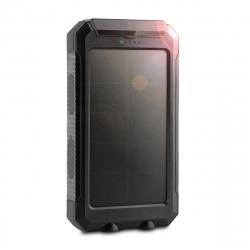 muvit power bank solar 10000 mAh USB 2 puertos 2A + 2A cableUSB Micro USB + brújula + linterna LED negro