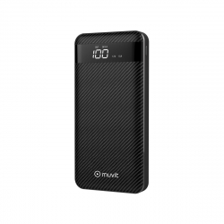 muvit power bank 20000 mAh 3 USB(2A+2A+3A)+ 1 Tipo C PD (input/output)+ 2 Output(Lightning+Micro USB) Negro