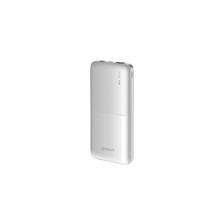 muvit power bank 10000 mAh USB 2 puertos 2A (max) blanca