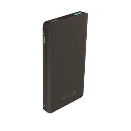 muvit power bank 10000 mAh 2 USB 3A+2,1A QC 3,0+2 input micro usb + tipo C)negra