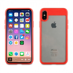 muvit funda Cristal Soft Bump Apple iPhone Xs/X roja