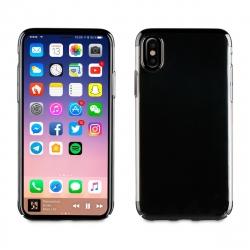 muvit carcasa Cristal Apple iPhone Xs/X bordes electoplating negra