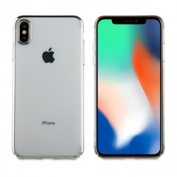 muvit carcasa Cristal Apple iPhone XS Max bordes Electoplating plateada