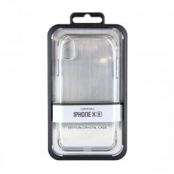 muvit carcasa Cristal Apple iPhone XR bordes Electoplating plateada
