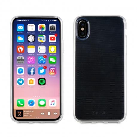 muvit funda Cristal Soft Apple iPhone Xs/X ultra fina transparente
