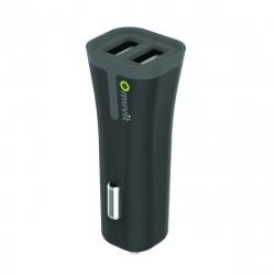 muvit cargador coche USB 2 puertos 3.4A negro