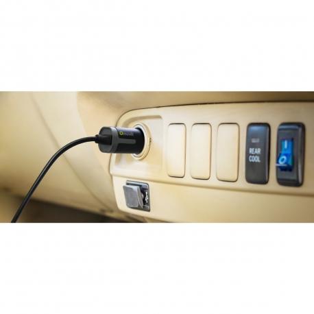 muvit cargador coche Micro USB 1A reversible cable rizado 1,8m negro