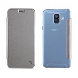 muvit funda Folio Samsung Galaxy A6 2018 plata