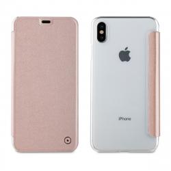 muvit funda Folio Apple iPhone XS Max oro rosa