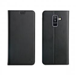 muvit funda Folio Samsung galaxy A6 Plus 2018 función soporte + tarjetero negra