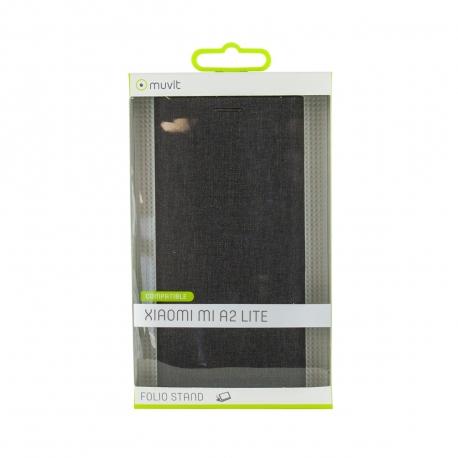muvit funda Folio Xiaomi Mi A2 Lite función soporte + tarjetero negra