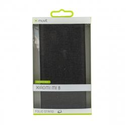 muvit funda Folio Xiaomi Mi 8 función soporte + tarjetero negra
