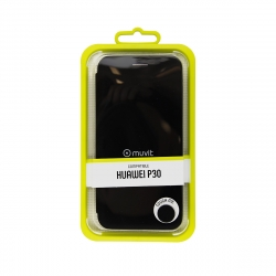 muvit funda Folio Huawei P30 función soporte + tarjetero negra