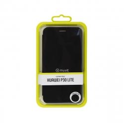 muvit funda Folio Huawei P30 Lite función soporte + tarjetero negra