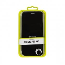 muvit funda Folio Huawei P30 Pro función soporte + tarjetero negra