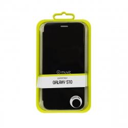 muvit funda Folio Samsung Galaxy S10 función soporte + tarjetero negra