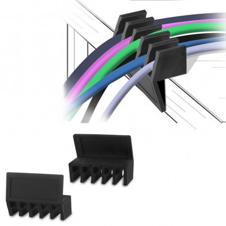 muvit pack 2 divisores de 6 cables negro