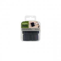 muvit organizador de cables multiusos 2 tamaños para 4 y 2 cables negro