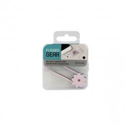 muvit organizador de cables para auriculares 2 unidades rosa/negro