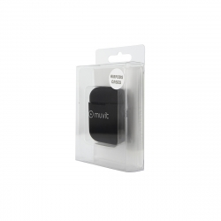 muvit funda Apple airPods silicona + colgante cuello negra