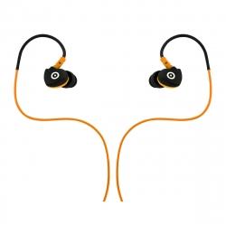 muvit auriculares estéreo con micrófono 3,5mm resistente al sudor negro/naranja