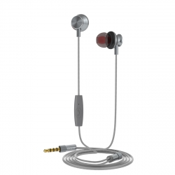 muvit auriculares estéreo M1I3.5mm gris