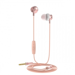 muvit auriculares estéreo M1I3.5mm oro rosa