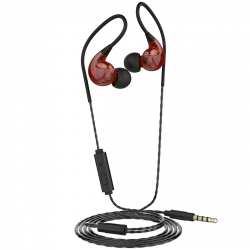 muvit auriculares estéreo sport jack 3.5mm M1S V2 rojo