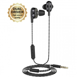 muvit auricular dual driver M1i+ 3,5 mm negro