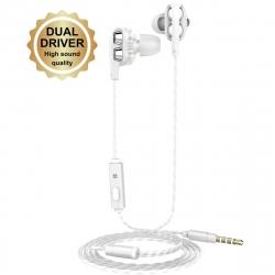 muvit auricular dual driver M1i+ 3,5 mm blanco