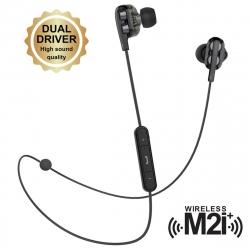 muvit M2i+ auricular bluetooth inalámbrico con sistema dual driver negro