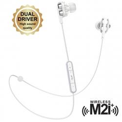 muvit M2i+ auricular bluetooth inalámbrico con sistema dual driver blanco