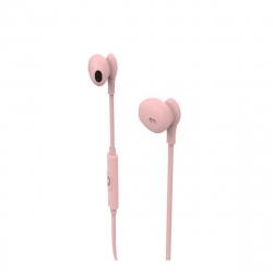 muvit auriculares estéreo M1C 3.5mm rosa