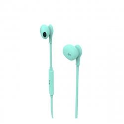 muvit auriculares estéreo M1C 3.5mm turquesa