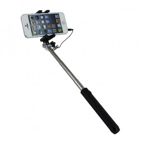"muvit palo selfie jack 3,5mm mini hasta 5,5"" negro"