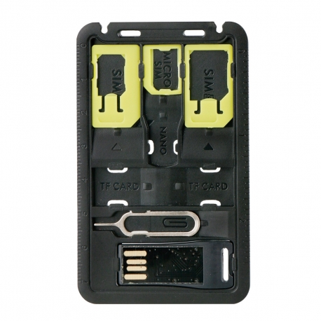 muvit pack 3 adaptadores SIM nanosim + microsim + lector tarjetas