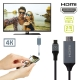 muvit cable Tipo C 3.0 a HDMI 2m gris y negro