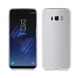 muvit pack Samsung Galaxy S8 funda Cristal Soft transparente + protector pantalla flexible