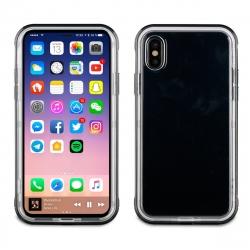 muvit pack Apple iPhone Xs/X funda Cristal bump + protector pantalla vidrio templado plano