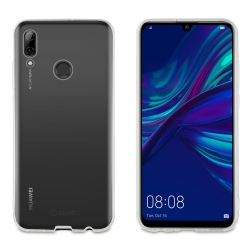 muvit pack Huawei P Smart 2019 funda Cristal Soft transparente + protector pantalla vidrio templado plano marco negro